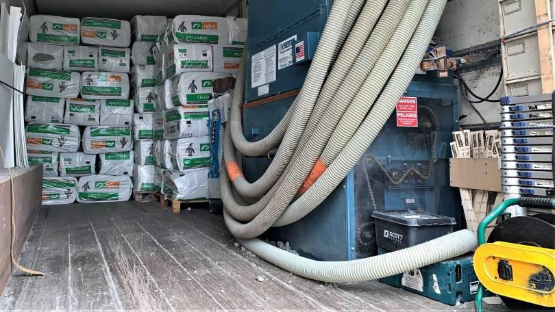 Machine Krendl et sacs de ouate de cellulose